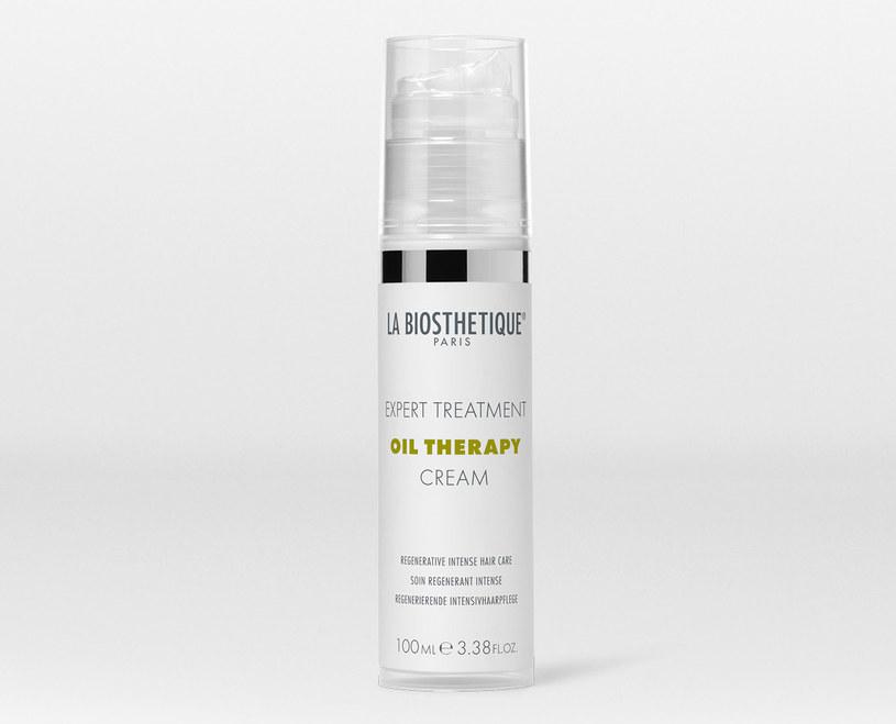Krem do włosów z serii Oil Therapy La Biosthetique /materiały prasowe