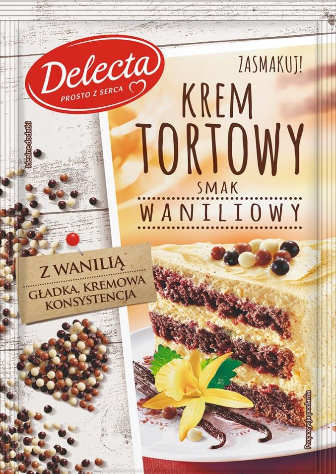Krem tortowy waniliowy Delecta /materiały prasowe
