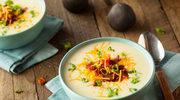 Krem z ziemniaków i batata z chrupiącym bekonem