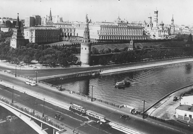 Kreml. Zdjęcie wykonano pod koniec lat 40. zeszłego stulecia /Z archiwum Narodowego Archiwum Cyfrowego