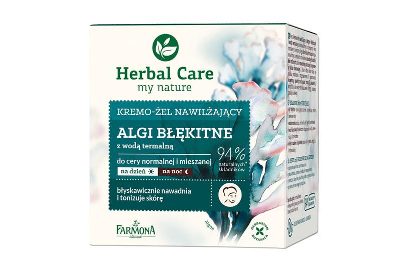 Kremo-żel Herbal Care z algami błękitnymi i wodą termalną /materiały prasowe