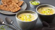 Kremowe zupy z czipsami i grzankami