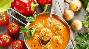 Kremowe zupy z klopsikami