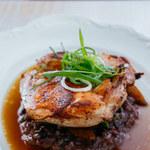 Kremowy kurczak z brązowym ryżem