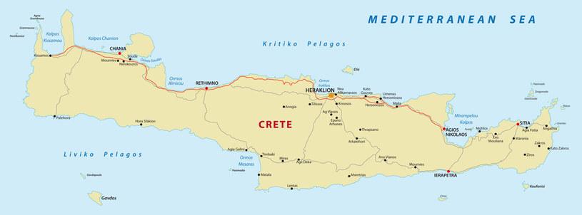Kreta - mapa drogowa /123RF/PICSEL