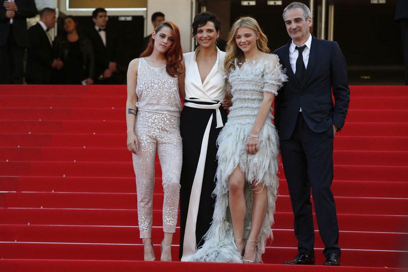 Kristen Stewart, Juliette Binoche, Chloe Moretz i Olivier Assayas /AFP