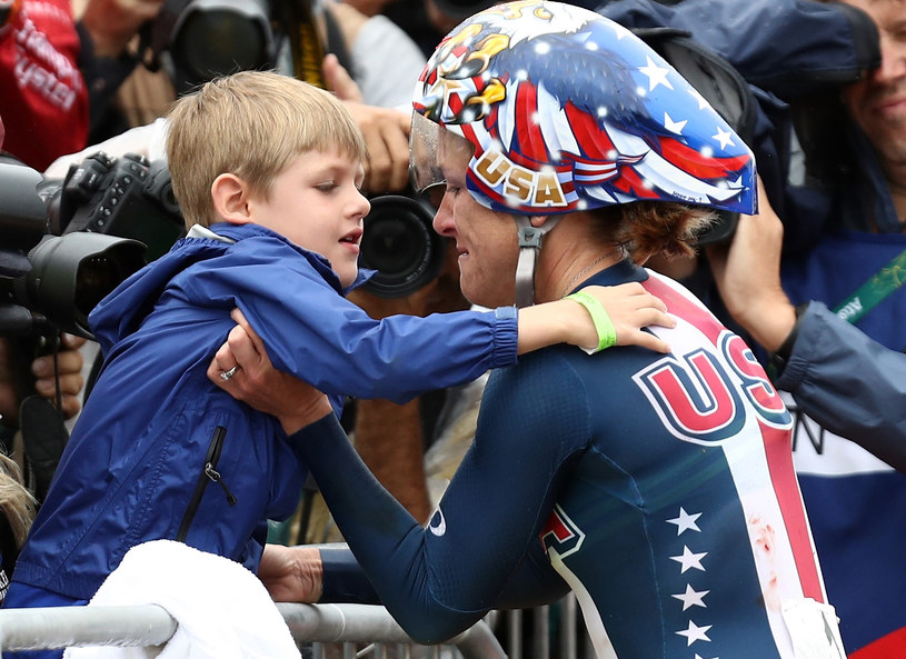Kristin Armstrong z synem /Getty Images