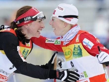 Kristin Stoermer Steira i Justyna Kowalczyk /AFP