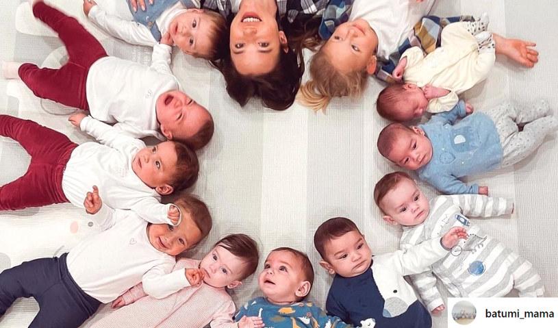 Kristina Ozturk ma 23 lata i już 21 dzieci /instagram.com/batumi_mama /Instagram