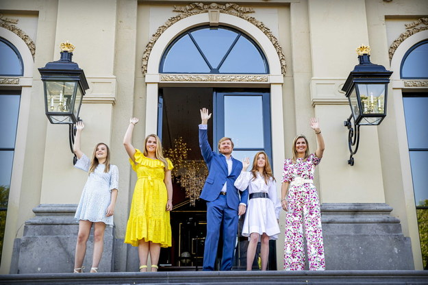 Król obchodził swoje urodziny wraz z najbliższą rodziną w swoim pałacu na obrzeżach Hagi /PATRICK VAN KATWIJK / POOL /PAP/EPA