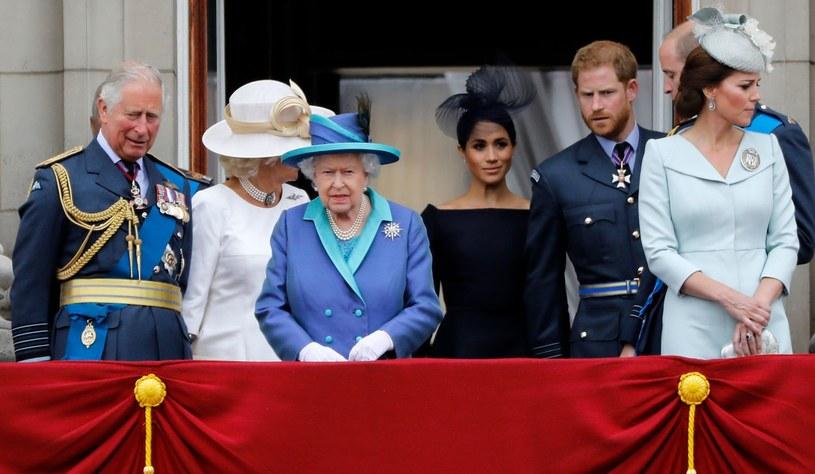 Królowa Elżbieta II (C) /AFP