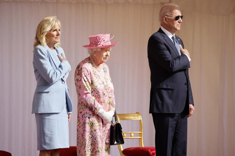 Królowa Elżbieta II i Joe Biden /AFP