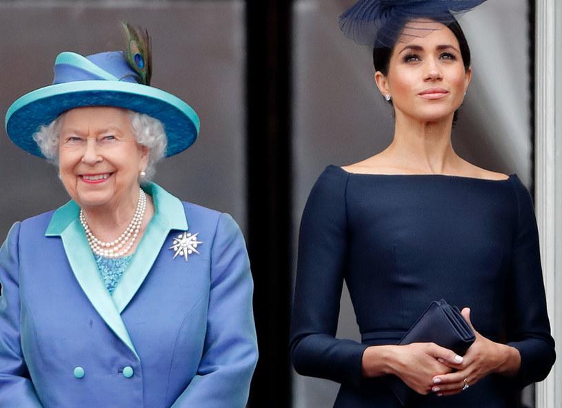 Królowa Elżbieta II i Meghan Markle /Max Mumbly /Getty Images