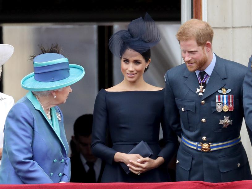 Królowa Elżbieta II, Meghan i Harry /Chris Jackson /Getty Images