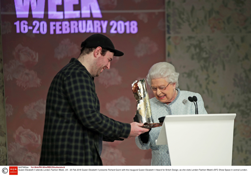 Królowa Elżbieta II na London Fashion Week 2018 /Yui Mok/PA Wire/REX/Shutterstock /East News