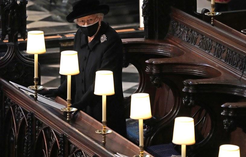 Królowa Elżbieta II na pogrzebie księcia Filipa /WPA Pool / Pool /Getty Images