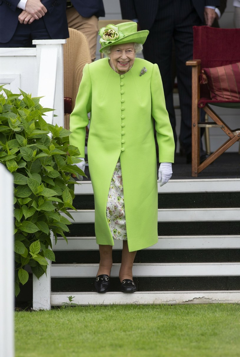 Królowa Elżbieta II podczas finału zawodów polo /David Hartley/Shutterstock /East News