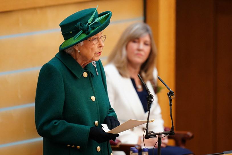 Królowa Elżbieta II w szkockim parlamencie /Jane Barlow/Press Association/ /East News