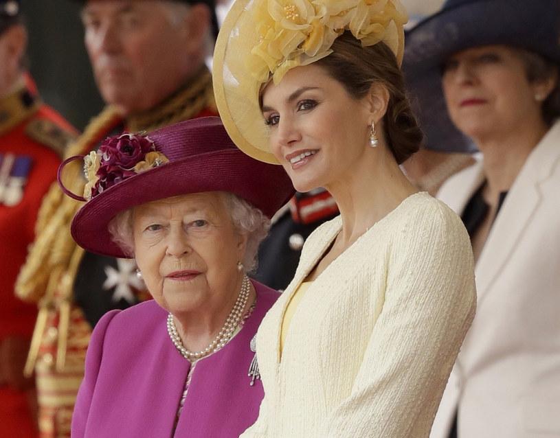 Królowa Elżbieta II z królową Letycją /Pool /East News