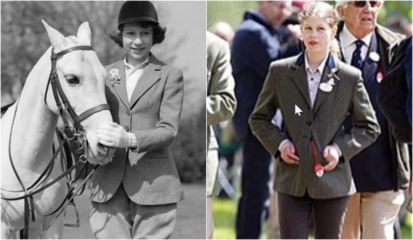 Królowa Elżbieta, lady Louise Windsor /Getty Images