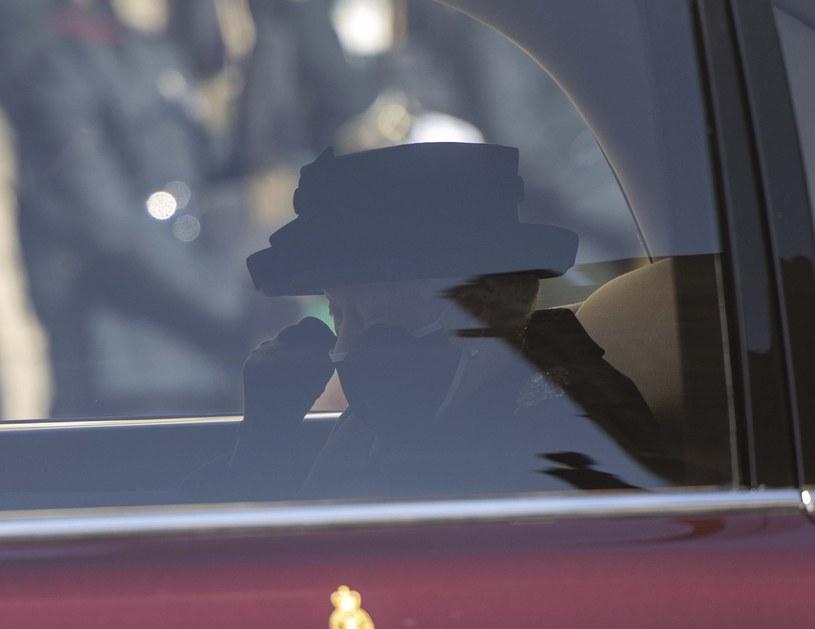 Królowa Elżbieta na pogrzebie Księcia Filipa /Getty Images /Getty Images