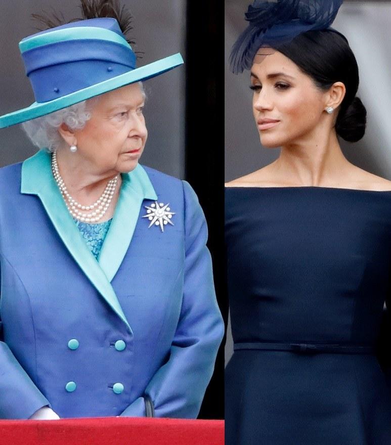 Królowa i Meghan /Pool /Getty Images