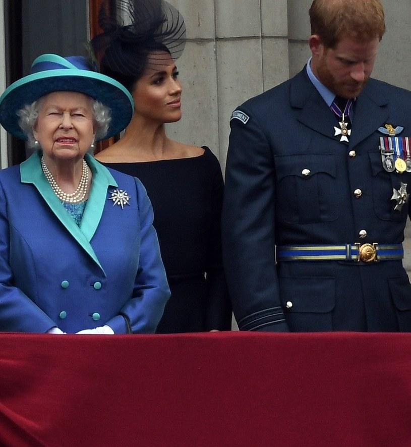 Królowa, Meghan i Harry /Anwar Hussein /Getty Images