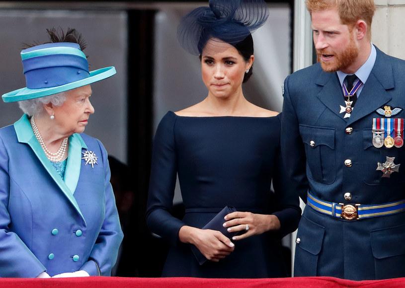 Królowa pozbawiła Meghan i Harry'ego tytułów? /Max Mumby/Indigo /Getty Images