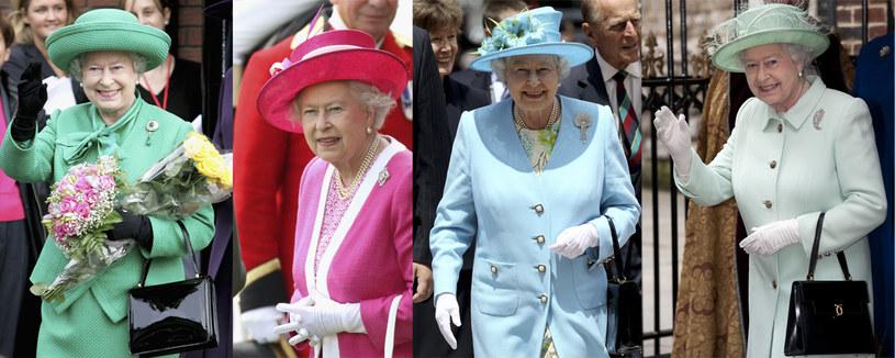 Królowa uwielbia pastelowe kreacje /Getty Images
