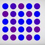 Kropki niebieskie czy fioletowe?