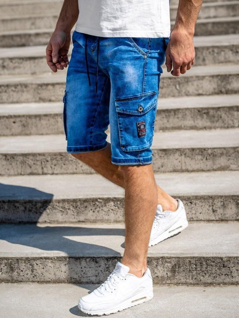 Krótkie spodenki jeansowe męskie /materiały promocyjne