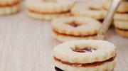 Kruche ciasteczka linzer z dżemem morelowym