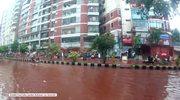 Krwawa rzeka spływa ulicami Bangladeszu. Mieszkańcy brodzą w krwi zwierząt składanych w ofierze Allahowi