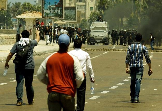 Krwawe zamieszki w Egipcie /ASMAA ABDELATIF /PAP/EPA