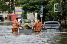 Krym pod wodą. Mieszkańcy walczą z ulewami