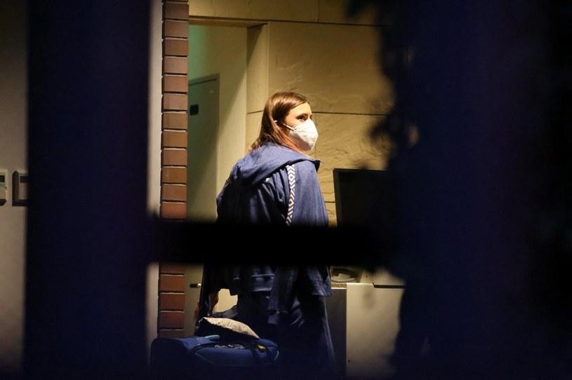 Kryscina Cimanouska przed ambasadą RP /Yuki IWAMURA / AFP /AFP