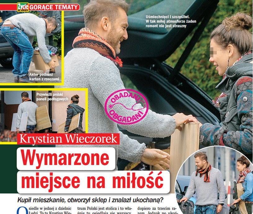 """Krystian Wieczorek z tajemniczą brunetką. Screenshot z """"Życia na gorąco"""" /Życie na gorąco"""