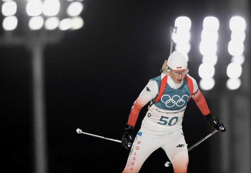 Krystyna Guzik na trasie olimpijskiej /PAP/EPA