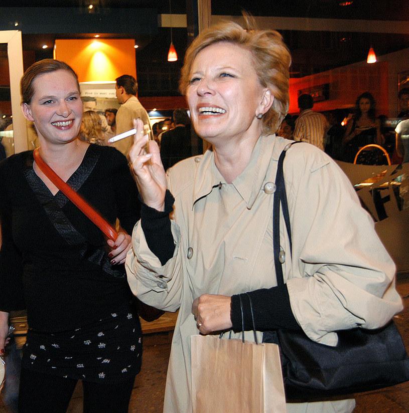 Krystyna Janda z córką Marysią /Zawada /AKPA