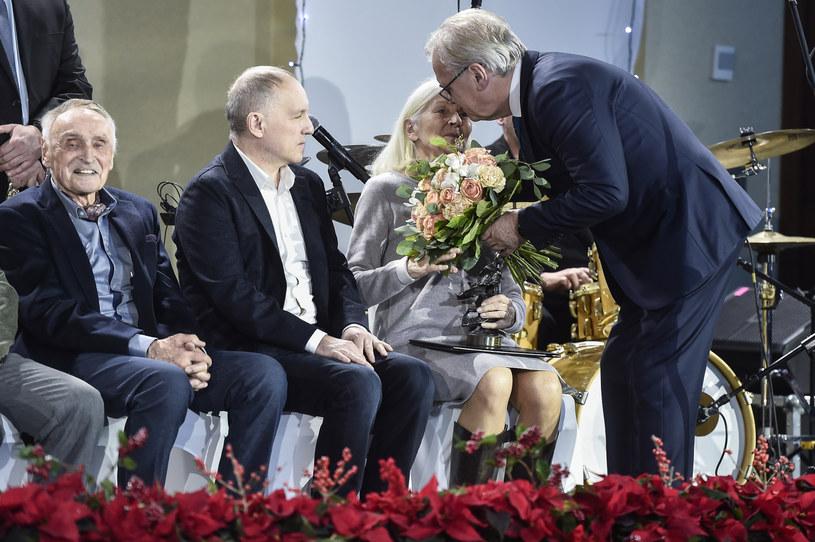 Krystyna Krupska-Wysocka i Jacek Bromski na Gali Nagród Stowarzyszenia Filmowców Polskich (grudzień 2018) /AKPA
