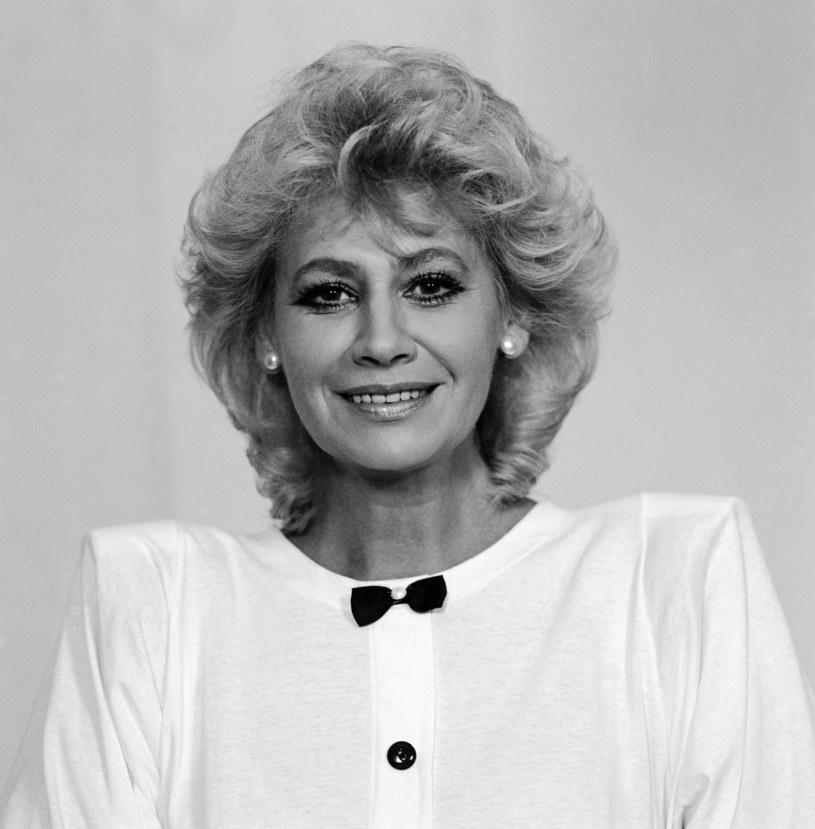 Krystyna Loska jest jedną z ikon polskiego dziennikarstwa, 1989 r. /Piotr Cieśla /Agencja FORUM