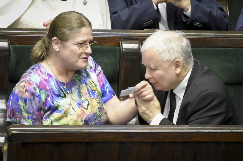 Krystyna Pawłowicz i Jarosław Kaczyński /Jacek Domiński /Reporter