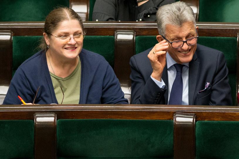 Krystyna Pawłowicz i Stanisław Piotrowicz mają być sędziami Trybunału Konstytucyjnego /Tomasz Jastrzębowski /Reporter