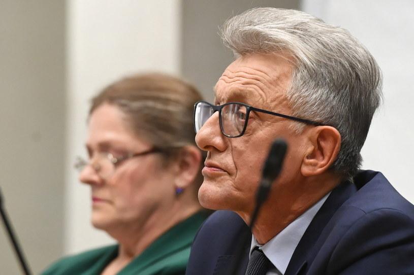 Krystyna Pawłowicz i Stanisław Piotrowicz podczas posiedzenia sejmowej komisji sprawiedliwości i praw człowieka / Radek Pietruszka   /PAP