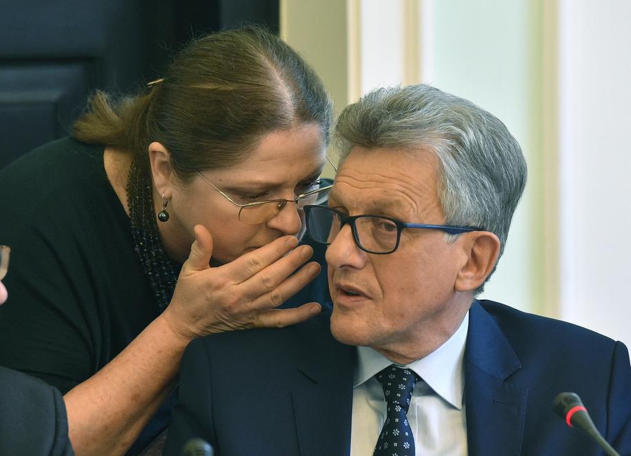 Krystyna Pawłowicz i Stanisław Piotrowicz / Radek Pietruszka   /PAP