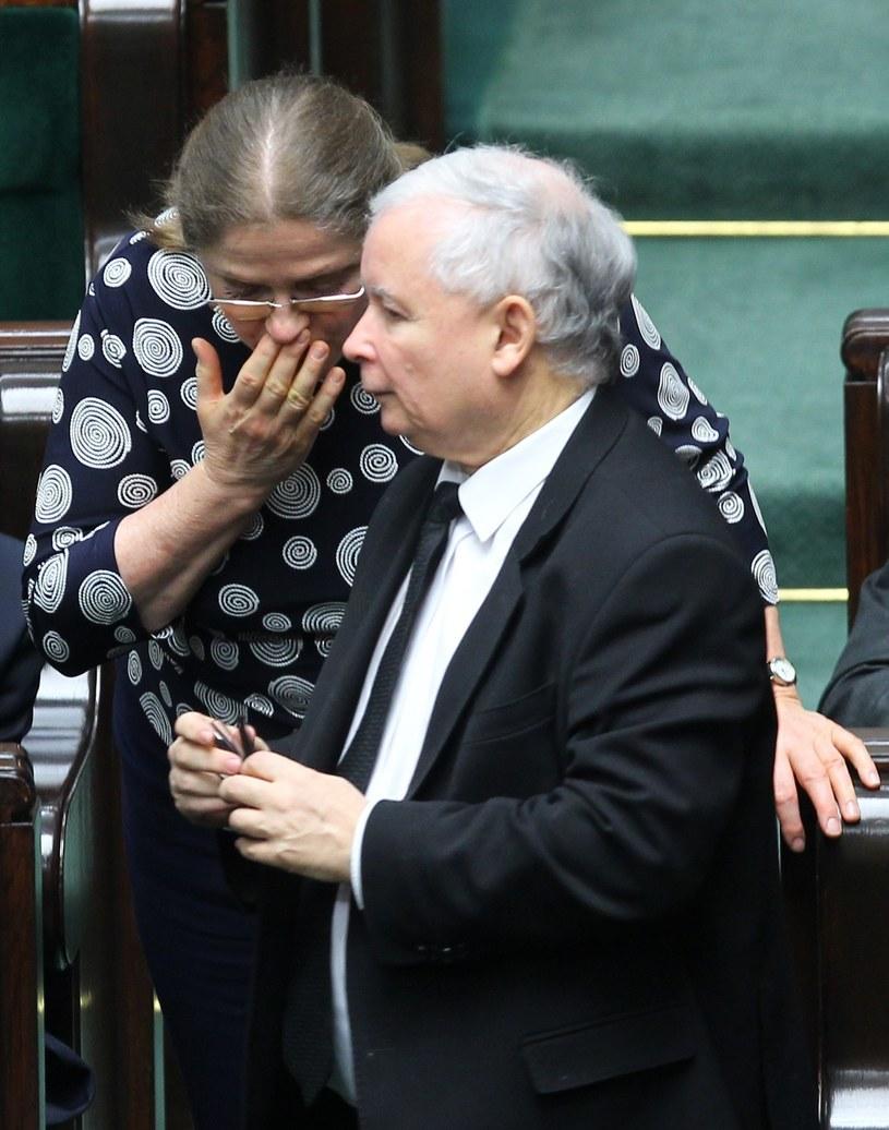Krystyna Pawłowicz, Jarosław Kaczyński /Stanisław Kowalczuk /East News