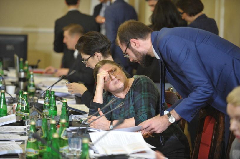 Krystyna Pawłowicz na posiedzeniu sejmowej komisji sprawiedliwości i praw człowieka /Marcin Obara /PAP