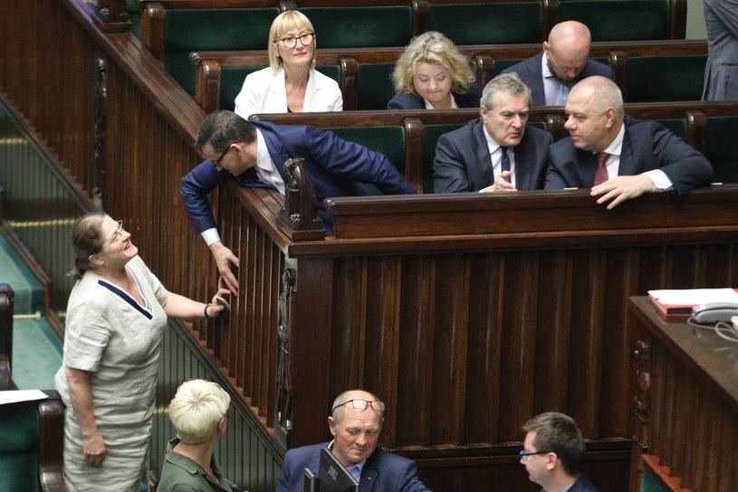 Krystyna Pawłowicz na posiedzeniu Sejmu /Tomasz Jastrzębowski /Reporter