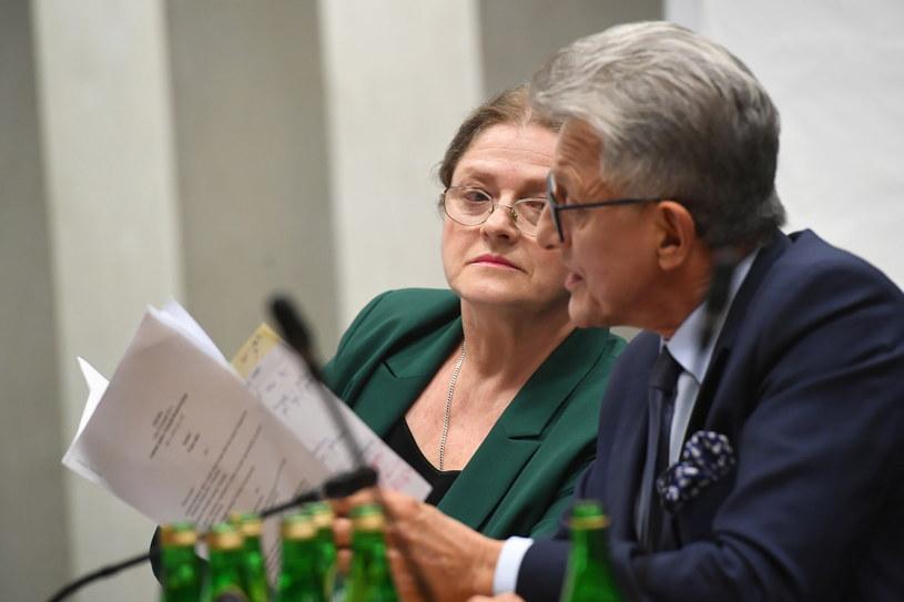 Krystyna Pawłowicz oraz Stanisław Piotrowicz / Radek Pietruszka   /PAP