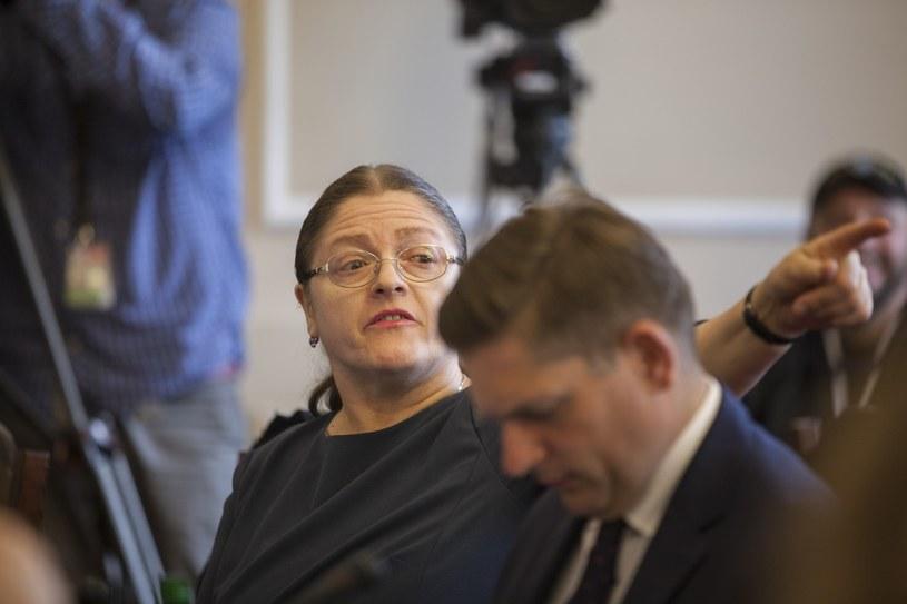 Krystyna Pawłowicz podczas posiedzenia komisji /Lukasz Zakrzewski /Reporter